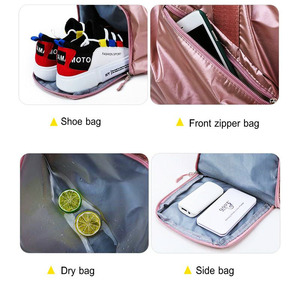 Image 5 - Gym Bags For Women With Shoe Compartment Sport Gym Bag With Wet Pocket New Femal Yoga Duffel Bags Outdoor Travel Luggage Bags