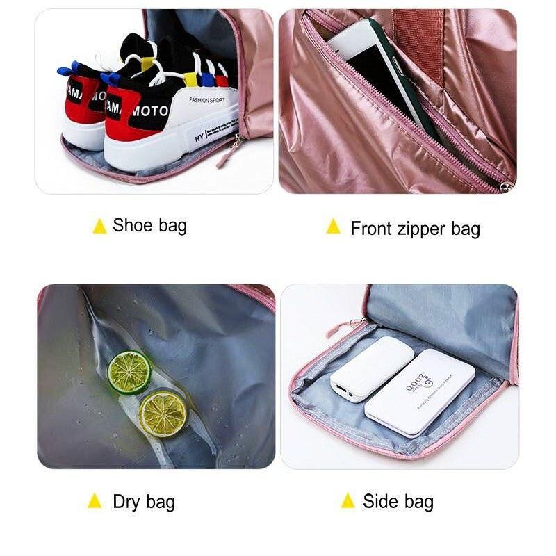 Nova bolsa de academia feminina com compartimento
