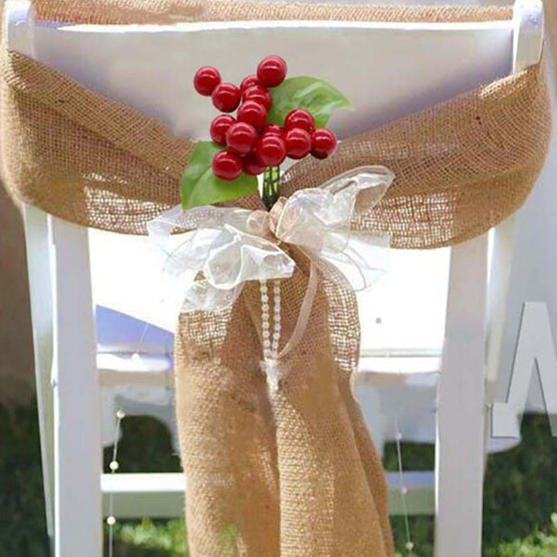 Strange Us 4 85 18 Off Burlap Chair Sashes Jute Chair Tie Bow With Artificial Flower For Rustic Wedding Party Christmas Chair Decoration Chair Cover In Ncnpc Chair Design For Home Ncnpcorg