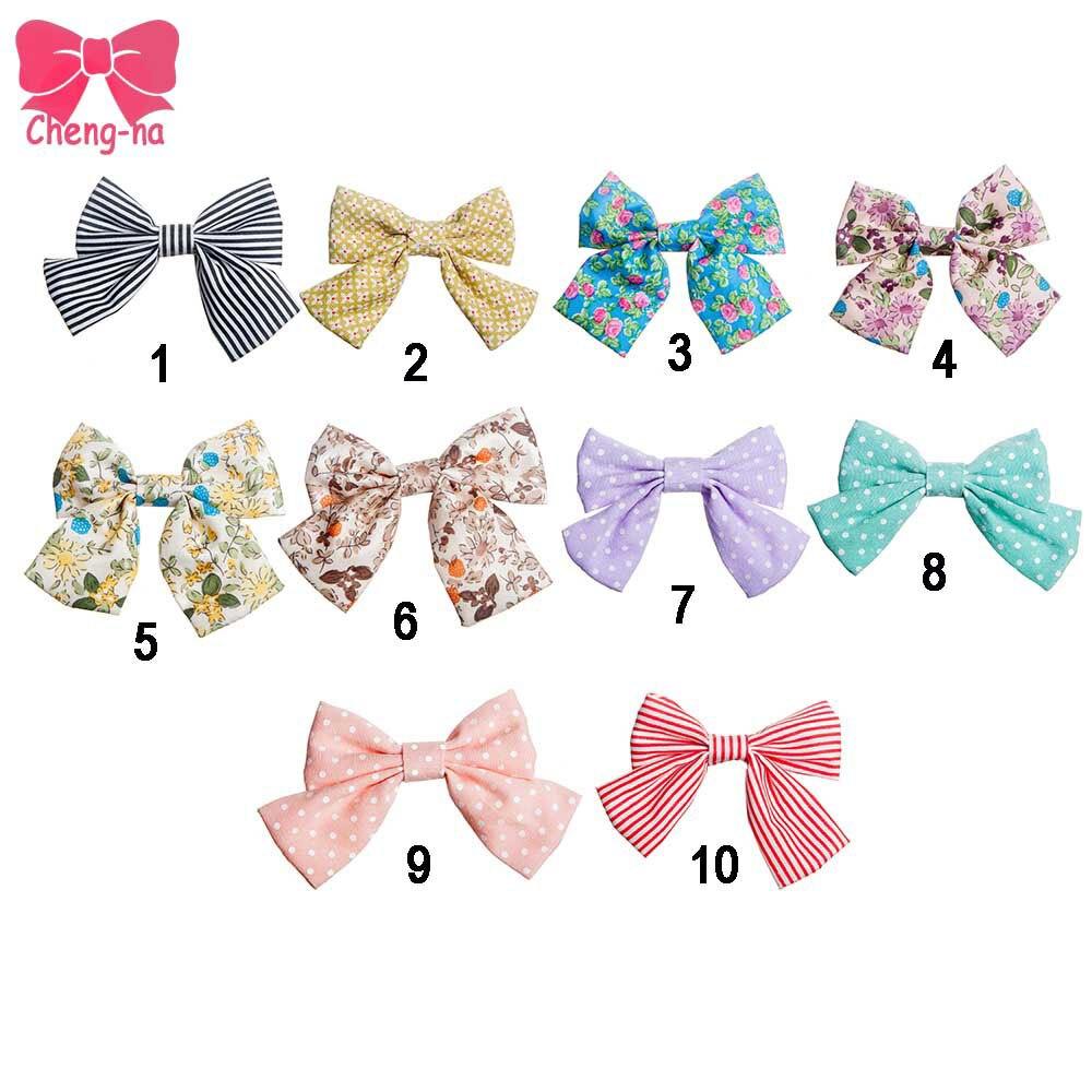 Ha hair bow ribbon wholesale - High Quality Grosgrain Ribbon Bow For Girl Ha Candy Colors Handmade Cute Girls Hair Accessories