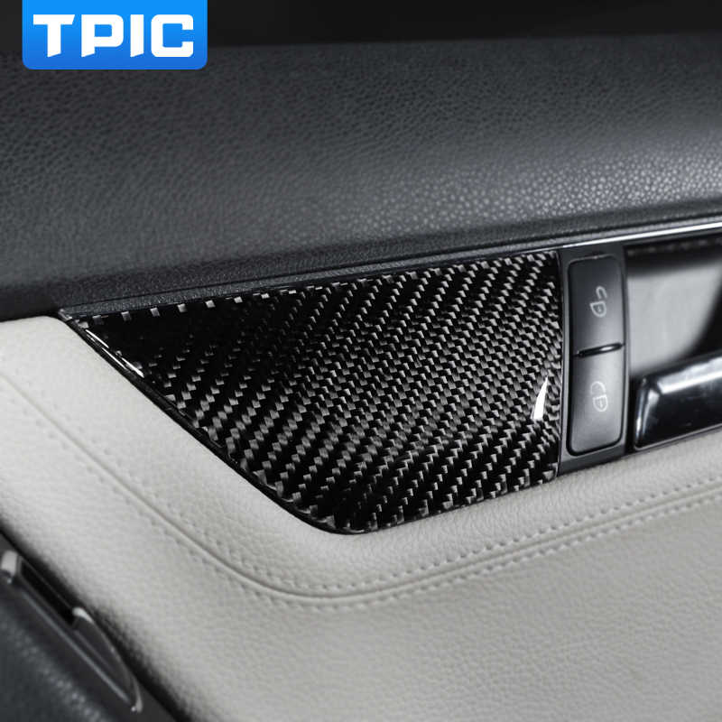 Suuonee Seat Adjustment Sticker Car Carbon Fiber Seat Adjustment Cover Trim Interior Sticker for Mercedes Benz C-Class W204 2007-2013 B-type