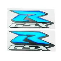 الأزرق ملصقات rgsx موتو الدراجة النارية 3d دبابات مزينة الشارات ملصقا ل R-GSX gsxr 600 750 1000