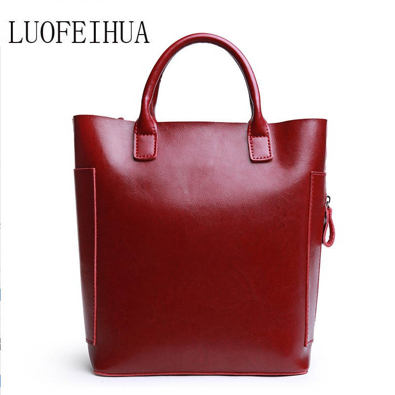 LUOFEIHUA  Leather bucket bag 2018 new casual wild handbag Fashion one shoulder messenger bag femaleLUOFEIHUA  Leather bucket bag 2018 new casual wild handbag Fashion one shoulder messenger bag female