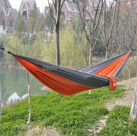 Free Shipping Outdoor or Indoor Parachute Cloth Sleeping Hammock Camping Hammock high quality multicolor вешала clearwater home