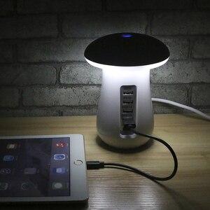 Image 5 - Multi Port USB Quick Charge QC3.0 Fast USB Charging for iphone ipad USB Charger Station Dock + Mushroom Led Lamp 5V 2.1A EU US