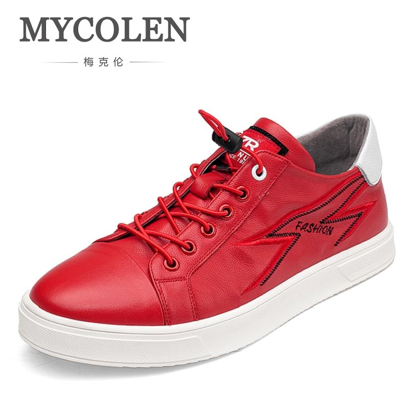 MYCOLEN Spring Autumn Men Shoes Lace-Up Men Casual Shoes New 2018 Breathable High Quality Male Shoes Zapatos Para Hombre Casual men s leather shoes new arrival lace up breathable vintage style casual shoes for male footwears zapatos size 38 44 8151m