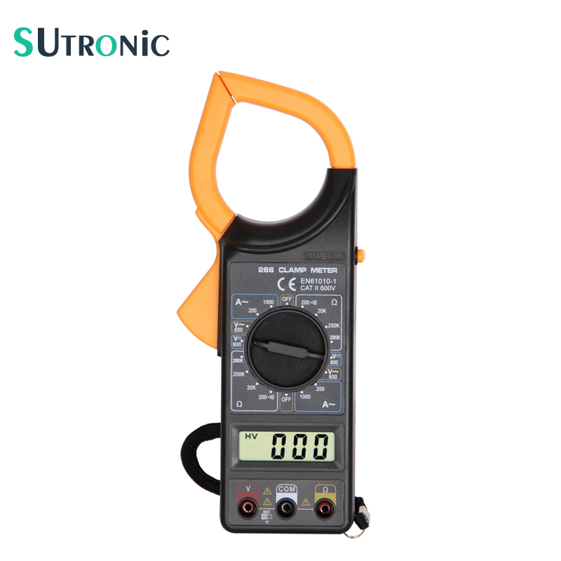 Non Contact Voltmeter : Dt digital current clamp meter buzzer data hold non