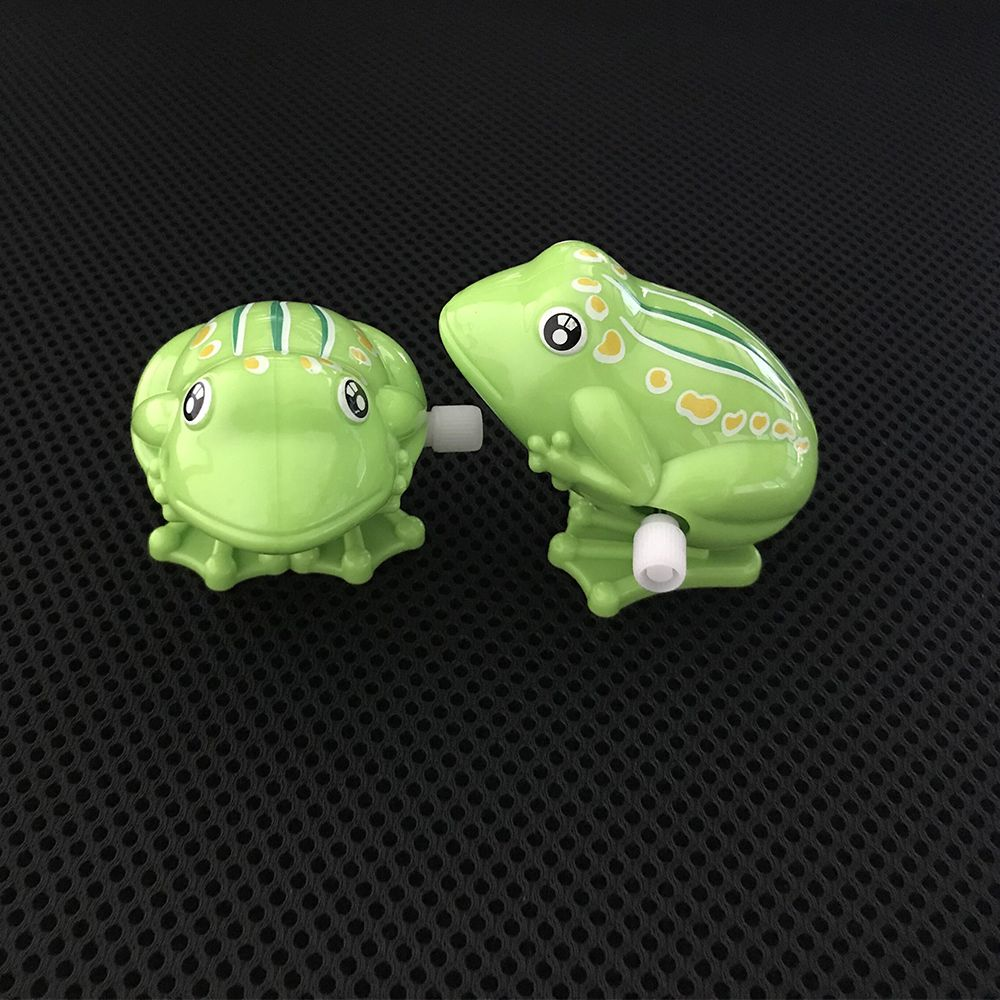 Lovely Cartoon Plastic Frog Clockwork Toy Wind Up Toy For Kids Jumping Children