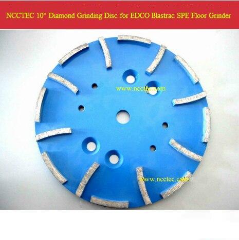 10 '' diamant meule tête pour EDCO Blastrac SPE plancher de béton de meulage machine | 250 mm abrasif plaque | 16 segments
