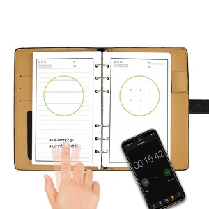 Image 4 - NEWYES A6 مفكرة جلدية سوداء ذكية قابلة للمسح يمكن إعادة استخدامها موجة الميكروويف سحابة محو الورق المفكرة اللوازم المدرسية المكتبية هدية
