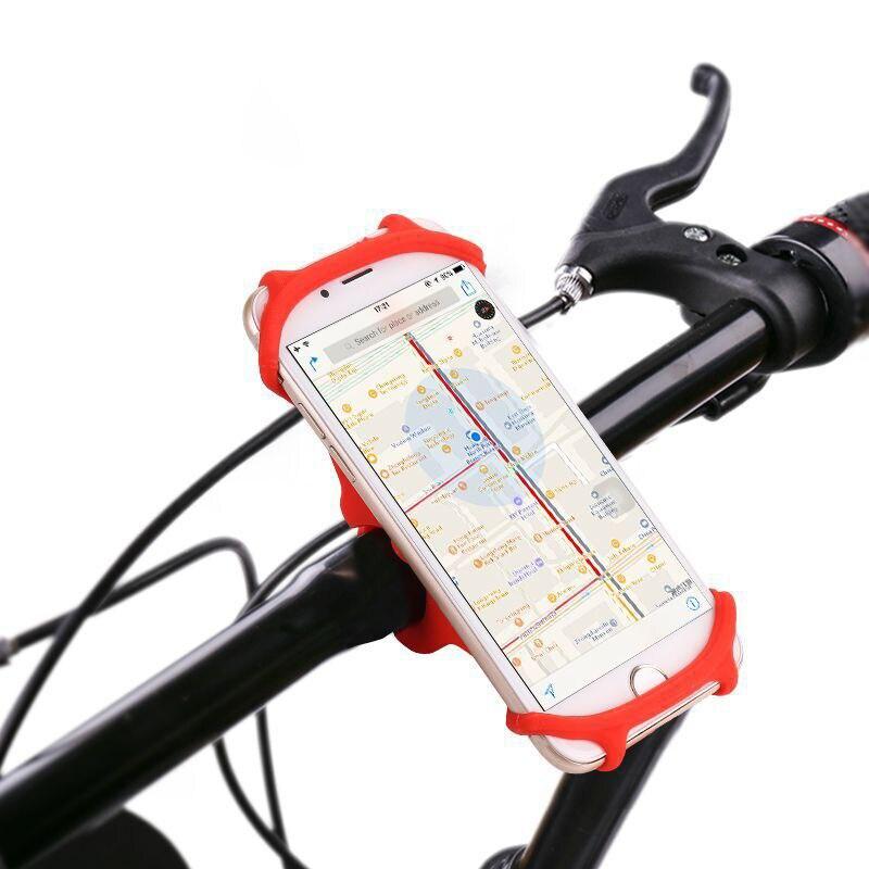 Banda de Silicone Suporte Do Telefone Da Bicicleta Universal Suporte De Navegação Para o iphone X XS 8 Suporte Do Telefone Suporte de Montagem Da Bicicleta Guiador