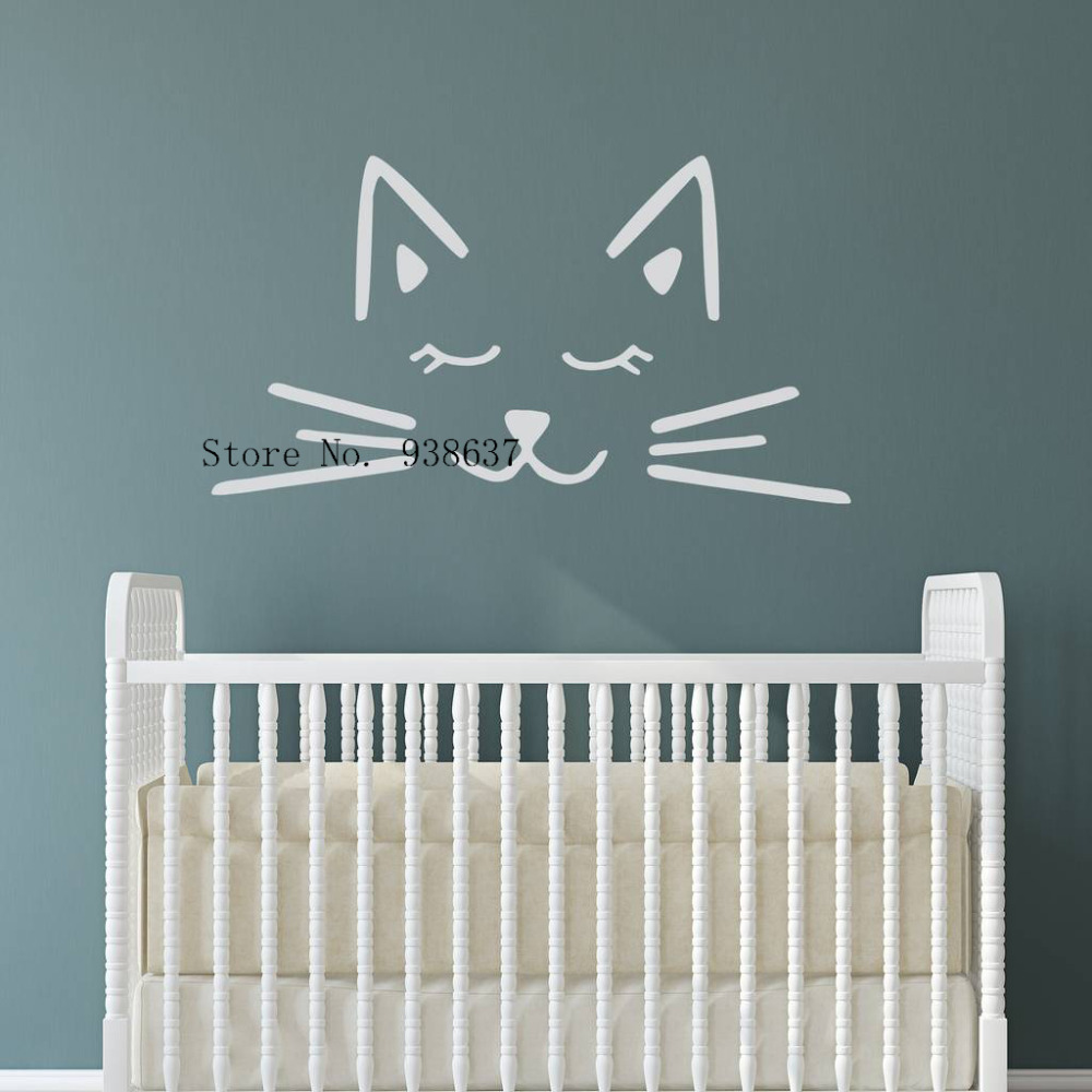 popular classic baby nursery buy cheap classic baby nursery lots cat face funny vinyl decals classic stylish living room baby nursery wall sticker waterproof home decoration