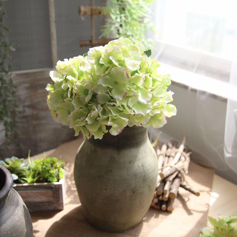 Konstgjorda Hortensia Blommor Bouquet 5 Branches / Bunch Fake Flowers - Semester och fester - Foto 5
