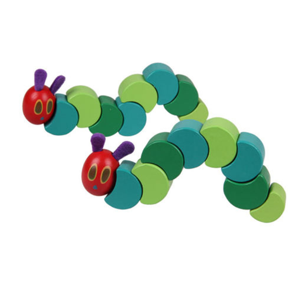 Fingers Flexible Anime Twist Baby Wooden Blocks Insects Toy Caterpillar