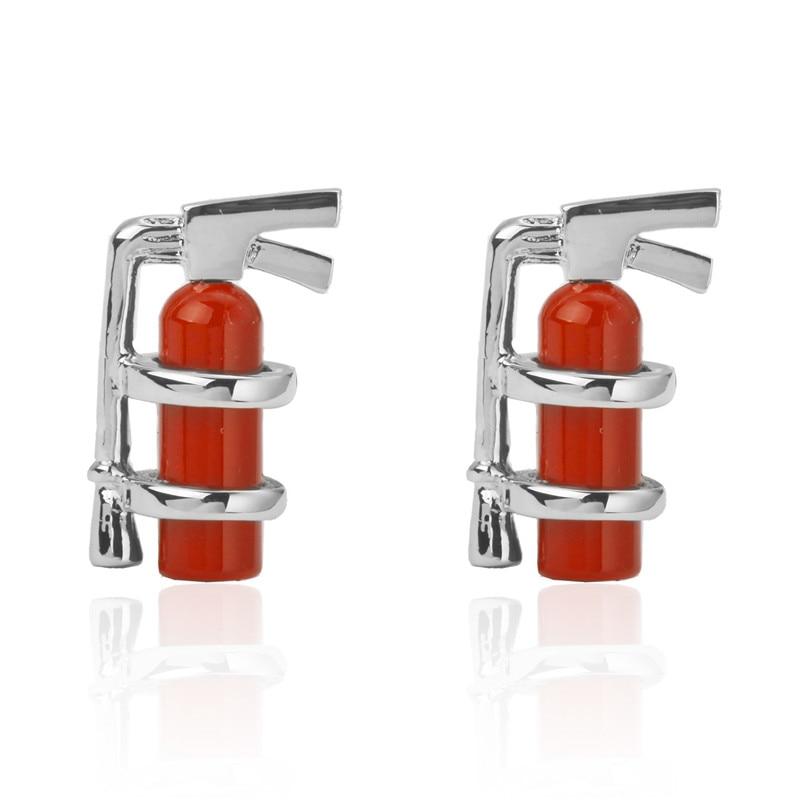 C-MAN Luxury shirt Red fire extinguisher Enamel cufflink for mens Brand cuff buttons cuff links High Quality abotoaduras Jewelry
