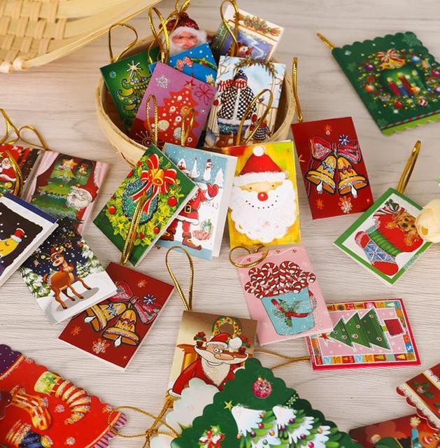 Weihnachten Grußkarte Neujahr Festivel Grußkarte Einladungskarten Hängen  Weihnachtsbaum Dekorative Ornamente