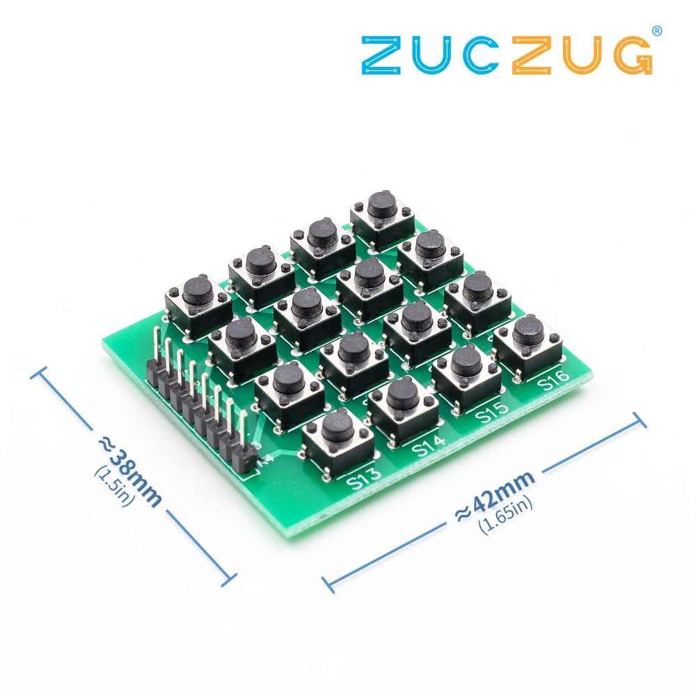 04315972055 ... 8pin 4x4 4*4 Matrix 16 Keys Button Keypad Keyboard Breadboard Module Mcu  for arduino ...