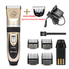 Baorun Professional Pet Hair Trimmer Rechargeable 110-240V Cat Dog Grooming Clippers Shaver Electric Scissor Haircut Machine