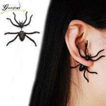 Punk Exaggeration Black Spider Stud Earrings For Women Girl Fashion Jewelry Pendiente Brincos Boucle Bijoux Oorbellen