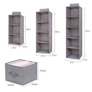 Image 3 - Pamuk dolap dolap dolap organizatör asılı cep çekmece giysi saklama giyim ev organizasyon aksesuarları malzemeleri