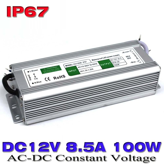DC 12V 8.5A 100W Waterproof Ip67 Electronic LED Driver