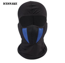 ICESNAKE Balaclava Moto Face Mask Motorcycle Tactical Cycling Bike Ski Army Helmet Protection Full