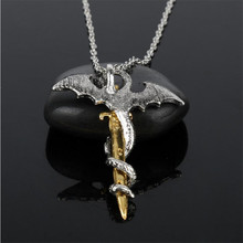 Luminous Game of Throne Dragon Sword Pendant Necklace