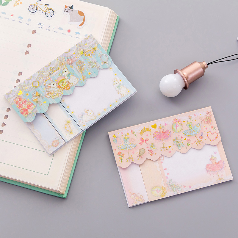 60 Pages /Pack Romantic Ballet Cake Violin Pearl Memo Pad Sticky Notes School Office Supply Student Stationery