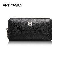 Genuine Leather Wallets Women Long Zipper Wallet Fashion Female Card Holder Wallet Ladies Clutch Cowhide Coin Purse portefeuille