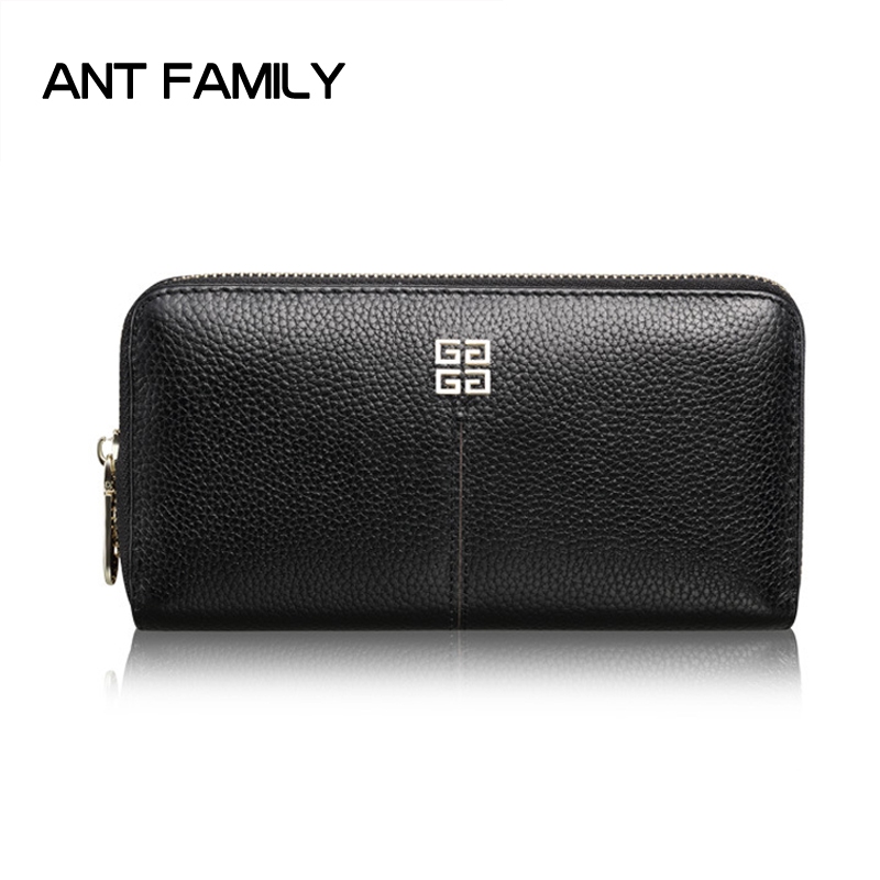 Genuine Leather Women Wallets Fashion Female Long Zipper Wallet Card Holder Wallet Ladies Coin Purse portefeuille Portfel Damski genuine leather wallet women luxury brand plaid coin purse female long clutch ladies leather wallets portfel damski portomonee