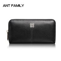 Women Wallets Genuine Leather Wallets Women 2017 Long Zipper Wallet High Quality Female Card Holder Wallets