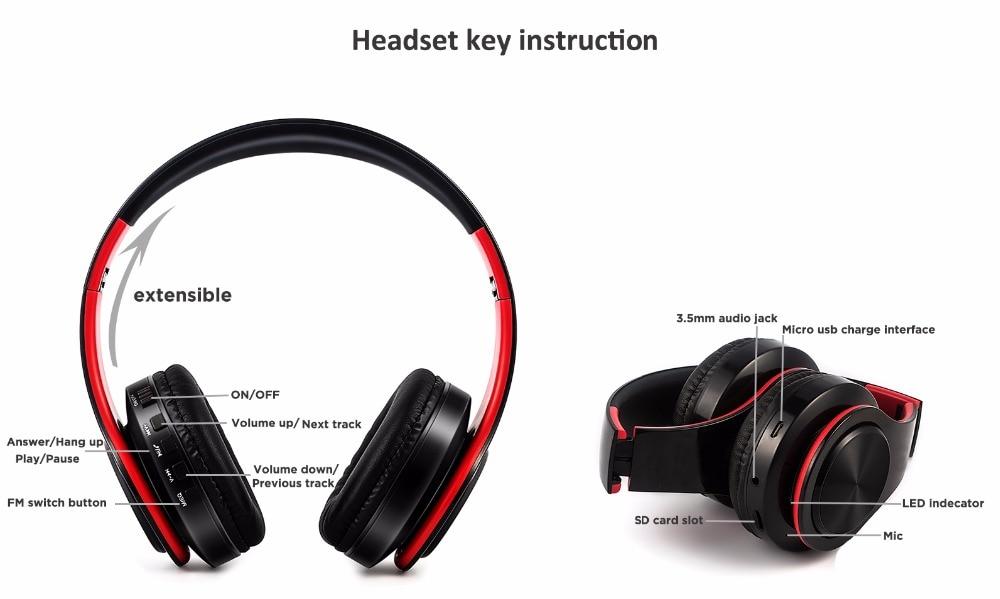 Chiclits Bežične slušalice Bluetooth slušalice Stereo Sklopivi - Prijenosni audio i video - Foto 3