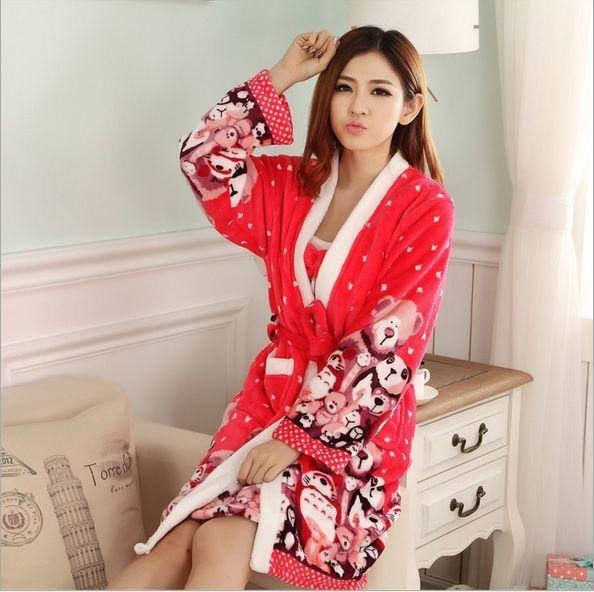 Cotton Sexy Bathrobe For Women Robe/Gown Sets comfortable casual pajamas homewear Robe Long-sleeved sleepwear free shipping