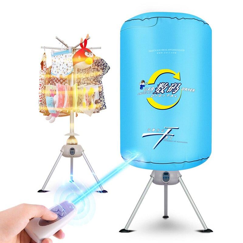 Blau 900 Watt Energiesparende Ultra-leise Timing Baby Kleidung Backen Maschine Fernbedienung Wäschetrockner