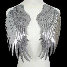 Нашивки с блестками, нашивки с большими крыльями ангела, нашивки с утюгом, нашивки с героями мультфильмов для одежды, тканевые наклейки, Шве...