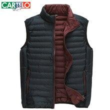 CARTELO/Marke Slim 90% Ente S-XXXL männer Casual Daunenweste Herbst Oder Winter Männlichen Warme Dünne Für Mann