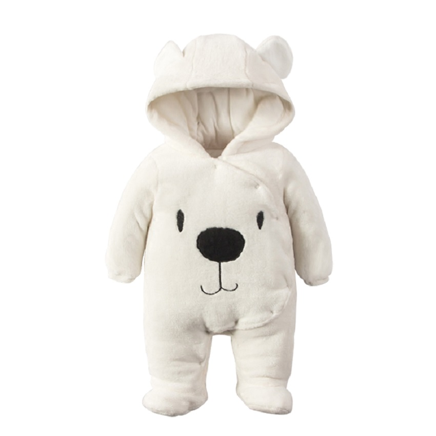 Cute Baby Boy Girl Winter Rompers Hooded Bear Romper Boys Warm Clothes Costome Kids Jumpsuit Baby clothes set tribros winter style baby clothes baby girl boy clothes cute bear hoodie thicken jumpsuits baby costume coveralls rompers