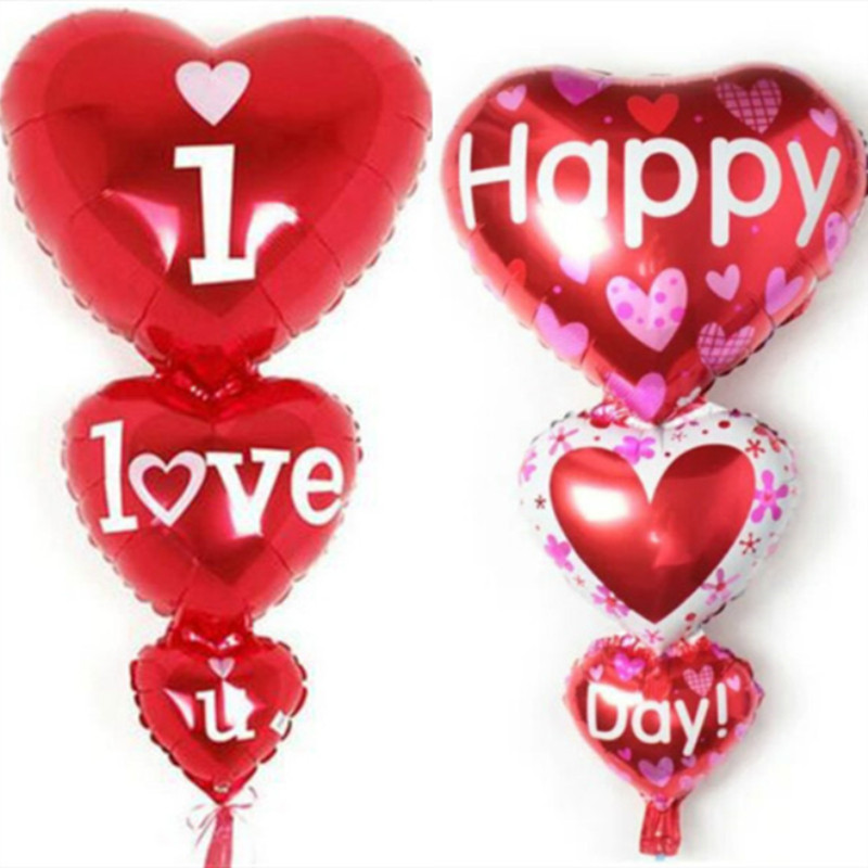 "VALENTINES BIRTHDAY PARTY BALOONS EVENTS LARGE 32/"" LOVE HEART FOIL BALLOON"