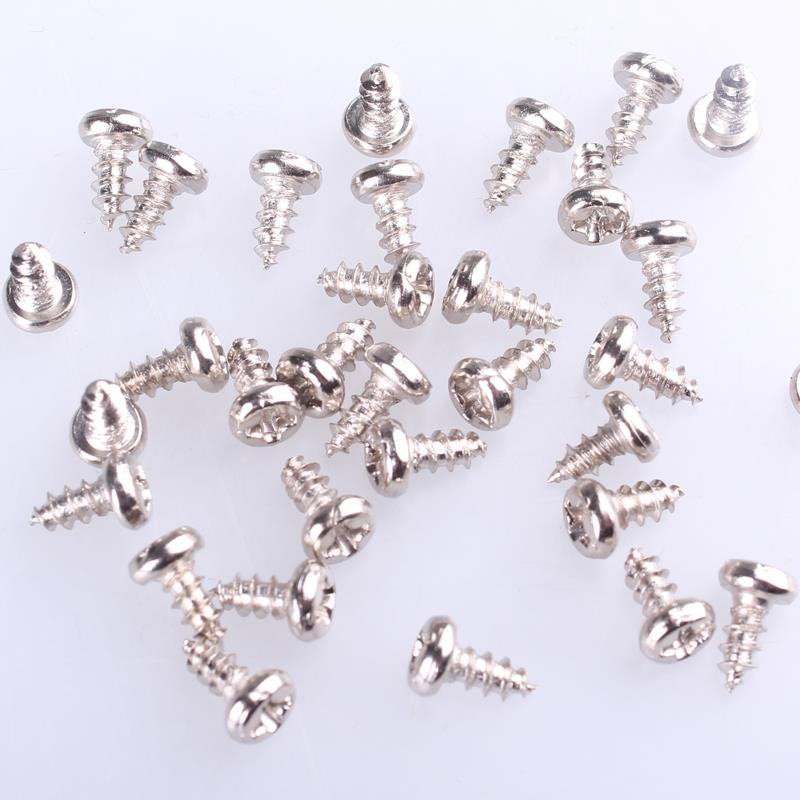 2mm Dia 8mm Long Thread Self Tapping Round Cross Head Screw
