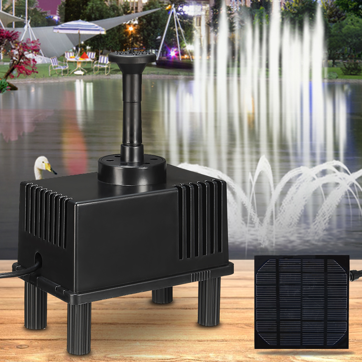 Solar Panel Power Water Pump for Fountain Garden Rockery Landscape Aquarium Fish Tank Pool Pond Submersible Watering PumpSolar Panel Power Water Pump for Fountain Garden Rockery Landscape Aquarium Fish Tank Pool Pond Submersible Watering Pump