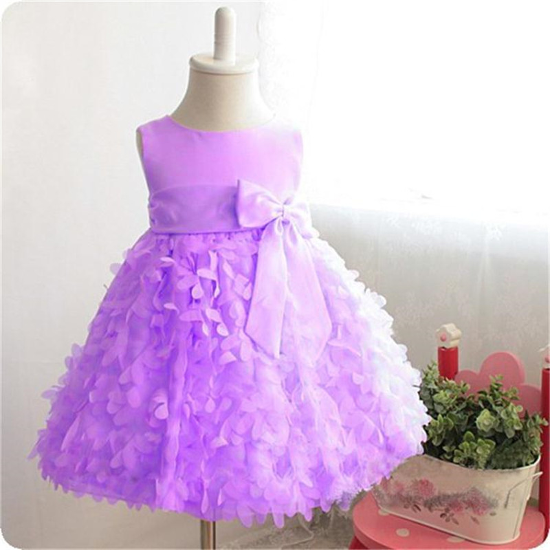 Toddler Baby Girl Summer Dress Princess Kids Dresses Girl Infant Party Wear Children's Clothing Girls Fairy Petals Wedding Gown summer kids girls lace princess dress toddler baby girl dresses for party and wedding flower children clothing age 10 formal