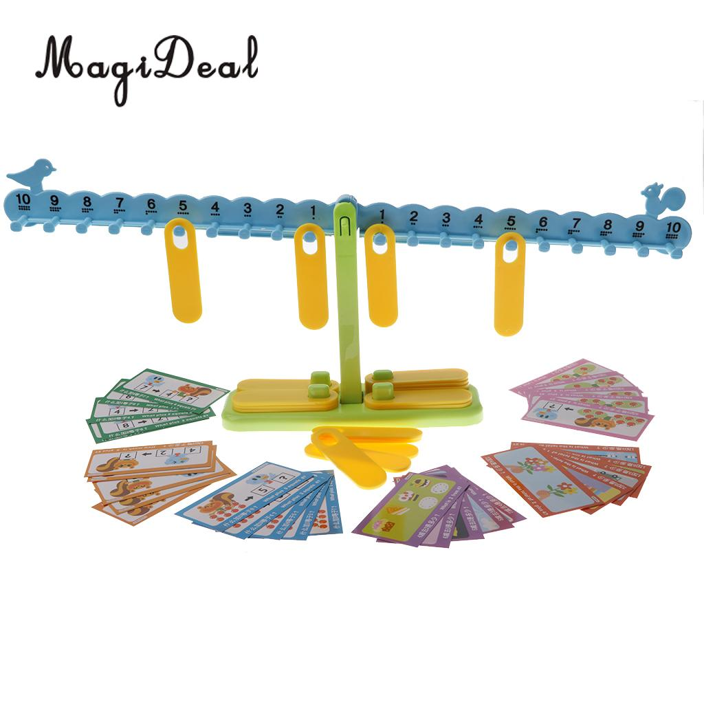 MagiDeal 1Pc Plastic Children Kids Preschool Balance Scale Balance Game Math Mathematics Learning Toy Gift ...