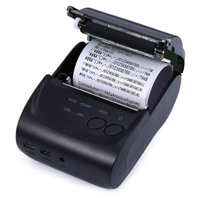 ТОПЫ ZJ-5802LD Высокая Скорость И Четкая Печать Мини Термопринтер 58 мм Тепловая Чековый Принтер Для Android Bluetooth 2.0 порт