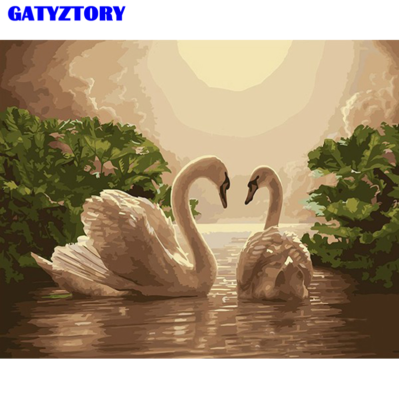 Frameless Lover Animals Diy Digital Oil Painting By Numbers Kits - Home Decor - Photo 1