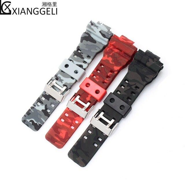 9c2c9cff9bef Watch Accessories 16mm for Casio Camouflage Watch strap G-SHOCK GA-110 GA-
