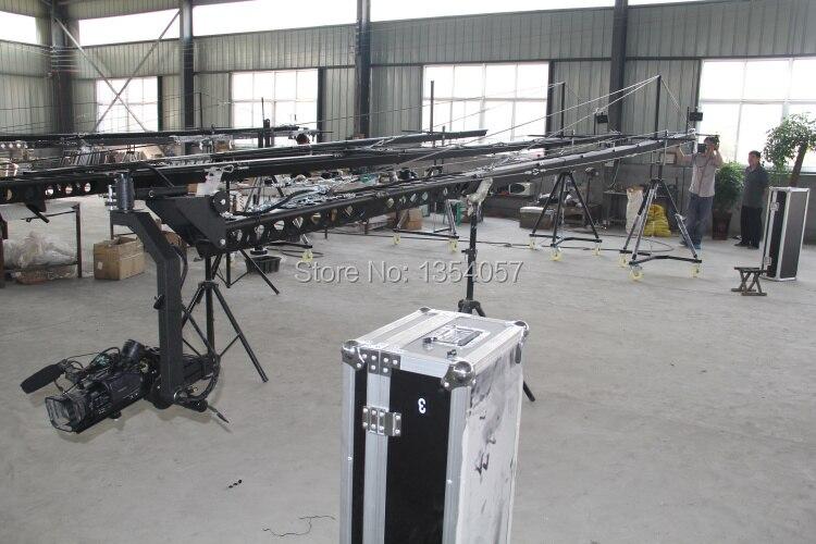 Grue à flèche 10 m 3 axes tête inclinable portable caméra grue dslr avec dolly et moniteur approvisionnement d'usine