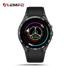Lemfo KW88 MTK6580 Reloj Teléfono Inteligente Android 5.1 OS 400*400 Pantalla quad core Soporte SIM smartwatch podómetro corazón tasa