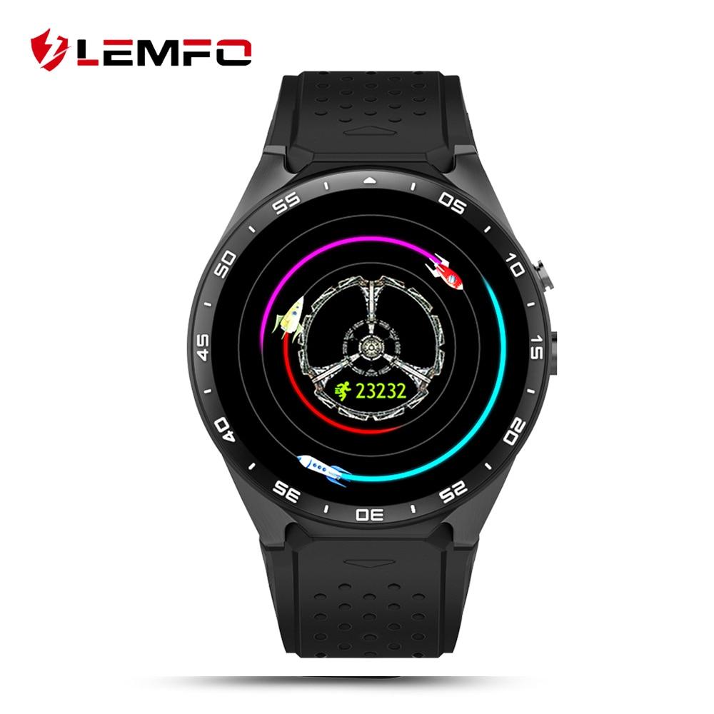 Lemfo KW88 MTK6580 Android 5.1 os Smart Watch teléfono 400*400 pantalla Quad Core smartwatch apoyo SIM podómetro del tasa