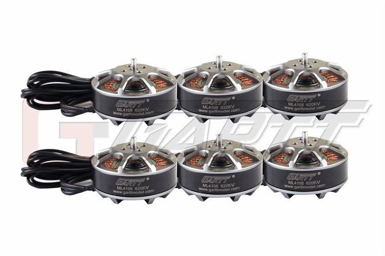 6pcs GARTT ML 4108 620KV Brushless Motor For Multi-rotor Quadcopter Hexacopter RC Drone 6pcs gartt ml 4108 500kv brushless motor for mult irotor quadcopter hexacopter rc drone