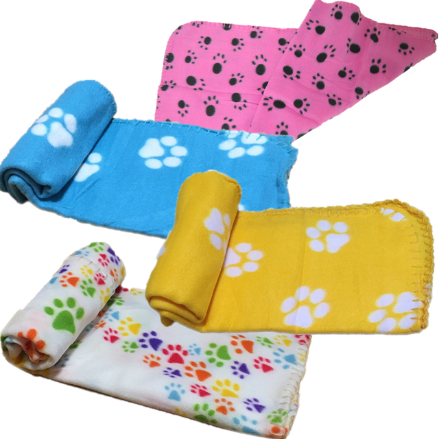Paw Print Pet Blanket Dog Cat Bed Mat Sleeping Mattress Small Medium Dogs Cats Air Condition Cushion Cover Towel Pet 40JA9